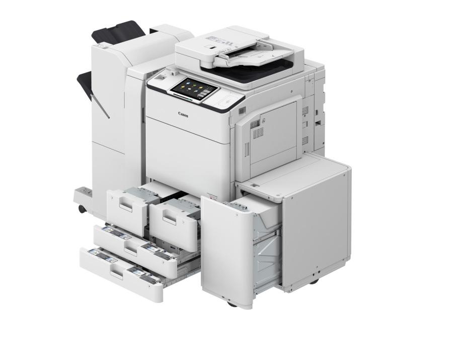 DX 7700, externer Finisher, Paperdeck