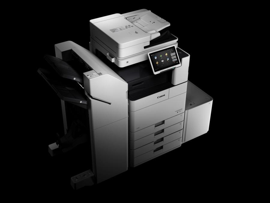 iR ADV DX 4700, externen Finisher, Paperdeck